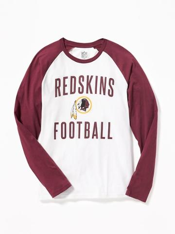 Old Navy Nfl Team Raglan Sleeve Tee For Men - Redskins