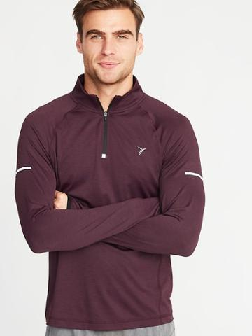 Old Navy Mens Breathe On Go-dry 1/4-zip Pullover For Men Sumptuous Purple Size M