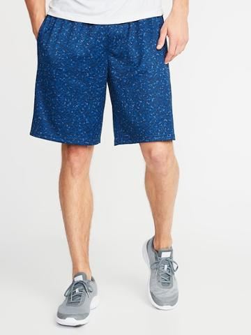 Go-dry Printed Mesh Shorts For Men - 10-inch Inseam