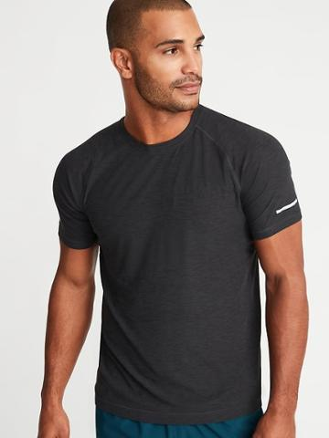 Old Navy Mens Breathe On Crew-neck Tee For Men Charcoal Heather Size M