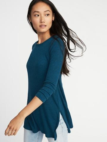 Old Navy Womens Long & Lean Rib-knit Tunic For Women Ideal Teal Size Xs