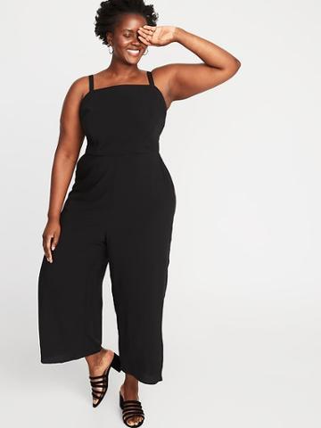 Square-neck Plus-size Cami Jumpsuit