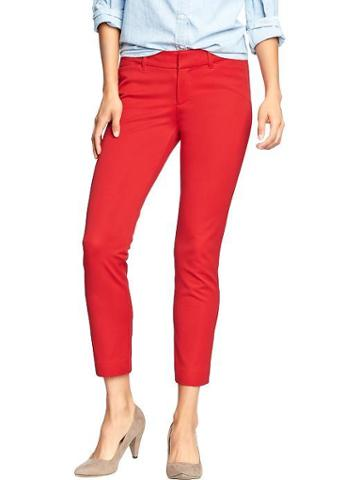 Old Navy Old Navy Womens The Diva Skinny Ankle Pants - Robbie Red