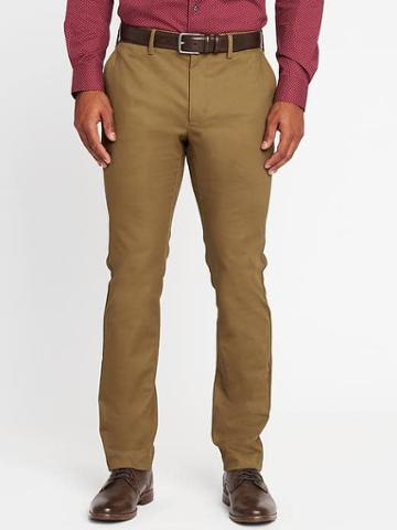 Old Navy Slim Signature Built In Flex Non Iron Pants For Men - In The Navy