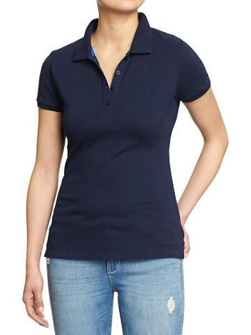 Old Navy Womens Basic Polos - Ink Blue