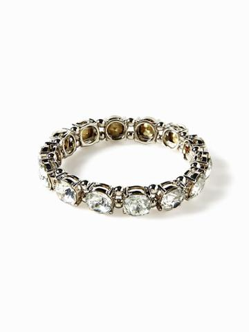 Crystal-stone Stretch Bracelet For Women