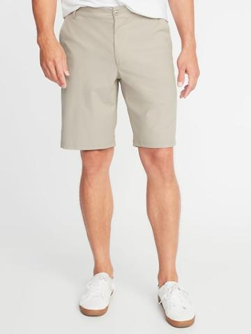 Old Navy Mens Slim Go-dry Performance Khaki Shorts For Men - 10 Inch Inseam Down The Shore - 10 Inch Inseam Down The Shore Size 28w