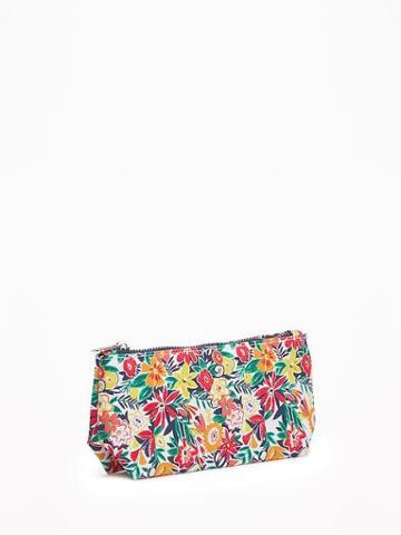 Floral-print Cosmetic Bag