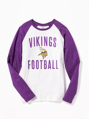 Old Navy Nfl Team Raglan Sleeve Tee For Men - Vikings