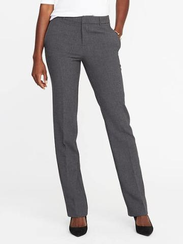 Old Navy Mid Rise Harper Long Pants For Women - Heather Gray