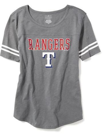 Old Navy Mlb Varsity Style Tee For Women - Texas Rangers
