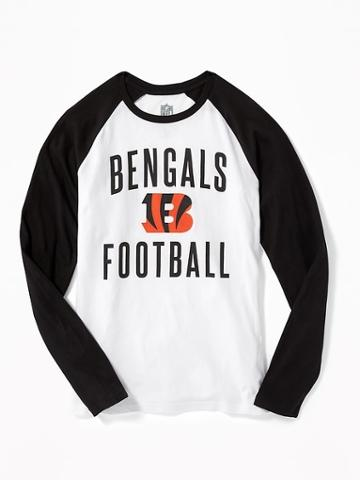 Old Navy Nfl Team Raglan Sleeve Tee For Men - Bengals