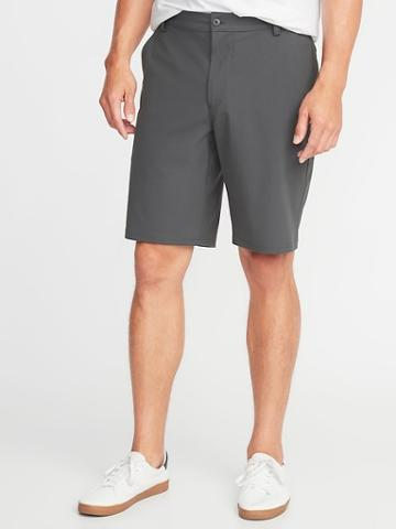 Old Navy Mens Slim Go-dry Performance Khaki Shorts For Men - 10 Inch Inseam Iron Will - 10 Inch Inseam Iron Will Size 34w