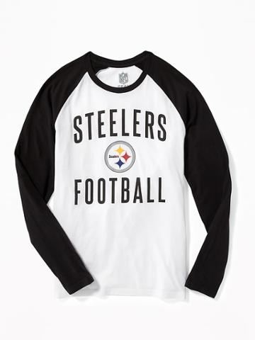 Old Navy Nfl Team Raglan Sleeve Tee For Men - Steelers