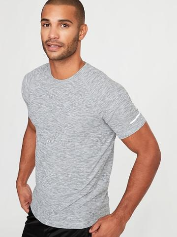 Old Navy Mens Breathe On Crew-neck Tee For Men Heather Gray Size Xl