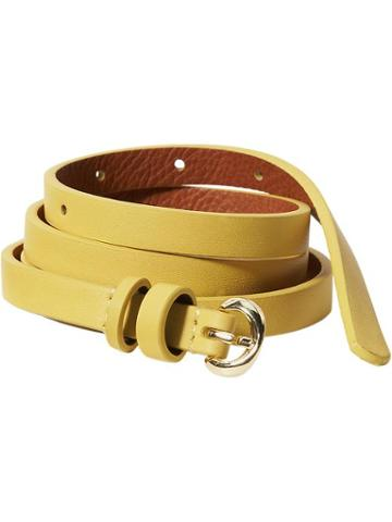 Old Navy Womens Skinny Faux Leather Belts Size L/xl - Pressed Olive