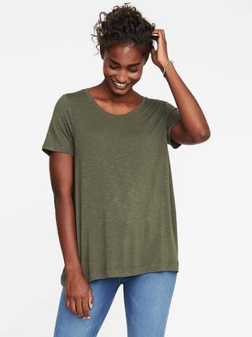 Old Navy Luxe Slub Knit Swing Tee For Women - About Thyme