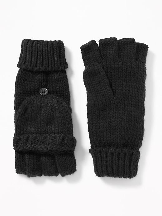 Old Navy Womens Convertible Flip-top Gloves For Women Blackjack Size One Size