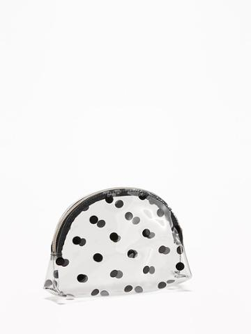Old Navy Womens Clear Polka-dot Cosmetic Bag For Women On Black Dot Size One Size