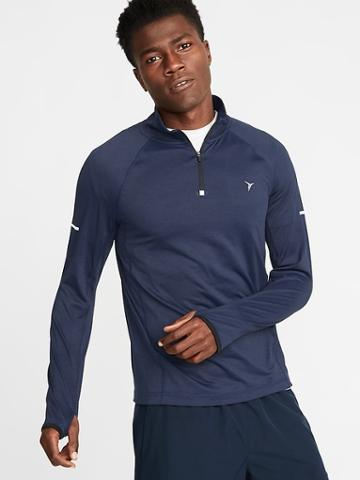 Old Navy Mens Breathe On Go-dry 1/4-zip Pullover For Men Goodnight Nora Size L