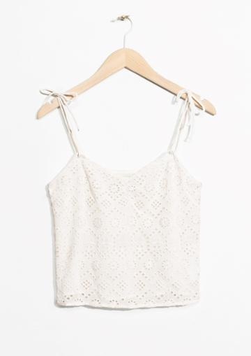 Other Stories Embroidery Crop Top