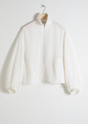 Other Stories Windbreaker Jogger Jacket - White