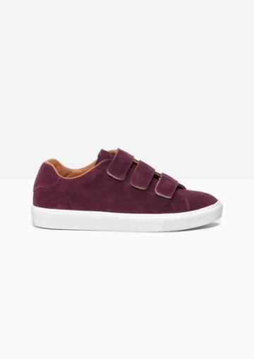 Other Stories Scratch Strap Leather Sneaker