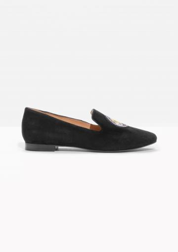 Other Stories Patched Suede Loafers