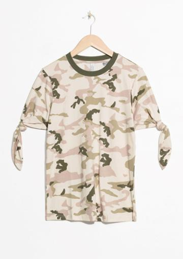 Other Stories Camo Tie Shirt