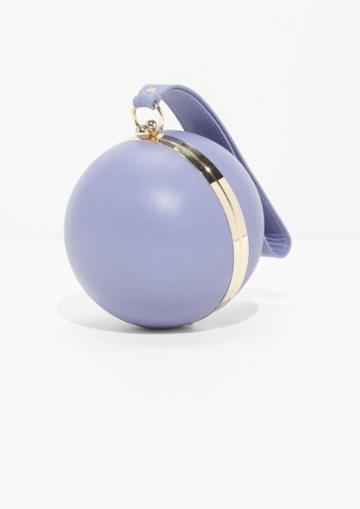 Other Stories Ball Leather Clutch