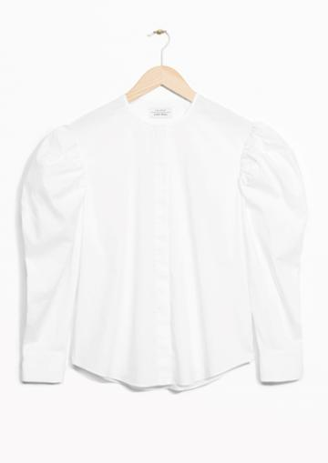 Other Stories Shoulder Puff Blouse