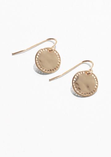 Other Stories Perforated Earrings