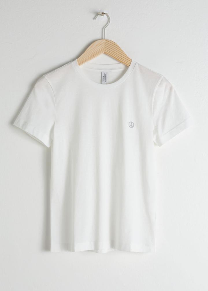 Other Stories Organic Cotton Zebra T-shirt - White