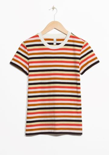 Other Stories Striped Organic Cotton Tee
