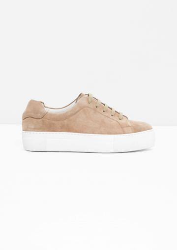 Other Stories Suede Platform Sneakers