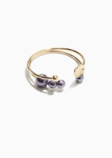 Other Stories Open Pearl Ring