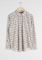 Other Stories Cotton Floral Shirt - White