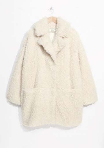 Other Stories Faux Fur Cocoon Coat