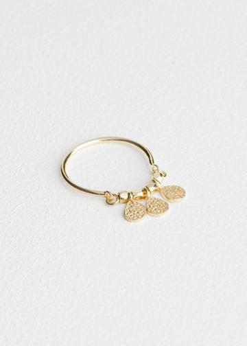 Other Stories Trio Droplet Charm Ring - Gold