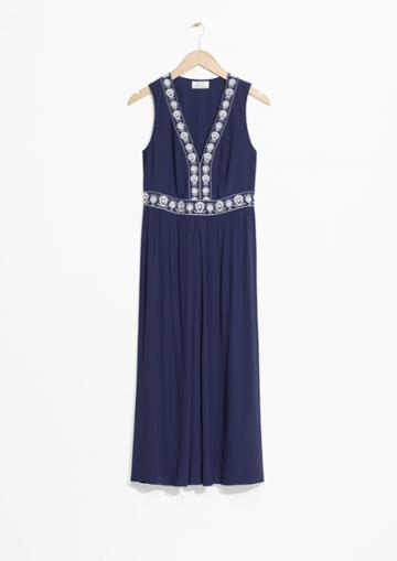 Other Stories Embroidery Maxi Dress
