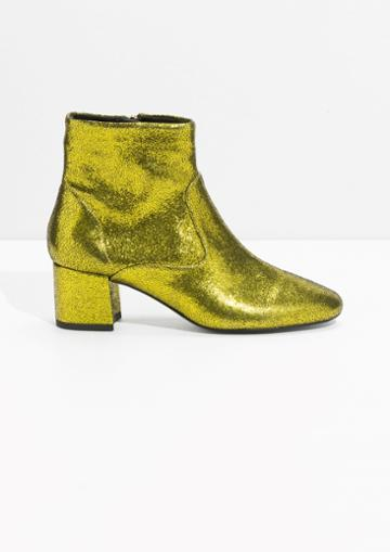 Other Stories Metallic Ankle Boots