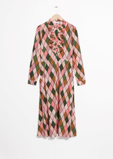 Other Stories Ascot Ruffle Midi Dress