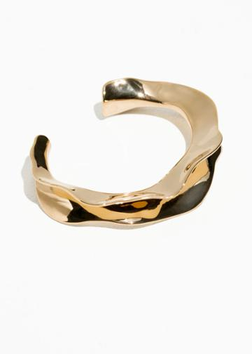 Other Stories Rippling Wave Cuff - Gold