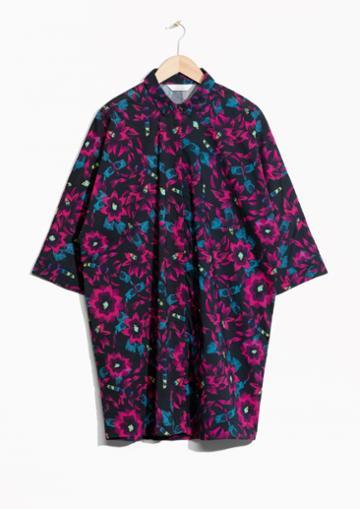 Other Stories Fuschia Shirt Dress