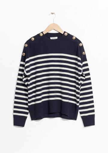 Other Stories Stripe Knit Sweater
