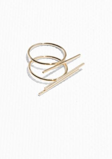 Other Stories Stack Bar Rings