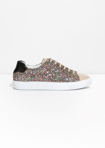 Other Stories Kaleidoscopic Glitter Sneaker