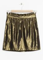 Other Stories Gold Mini Skirt - Gold