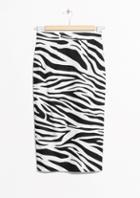 Other Stories Zebra Pencil Skirt