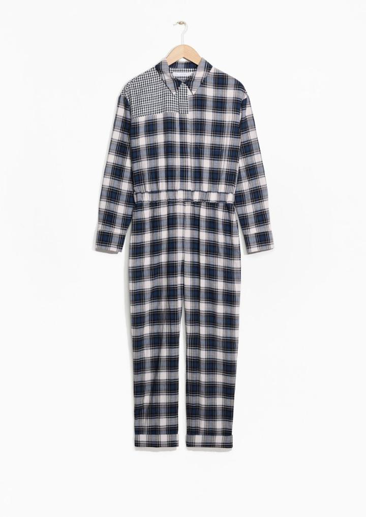 Other Stories Checkered Cotton Jumpsuit
